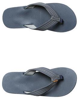 NAVY DARK GREY MENS FOOTWEAR FREEWATERS THONGS - MO022NVDG