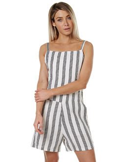 TILLY BLACK STRIPE WOMENS CLOTHING THE BARE ROAD PLAYSUITS + OVERALLS - 6-9-1319-3-03BSTR