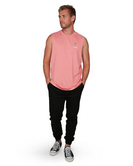 CORAL MENS CLOTHING VONZIPPER SINGLETS - VZ-V901521-COR