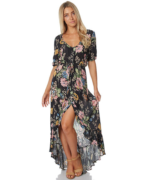 DELILAH BLK WOMENS CLOTHING AUGUSTE DRESSES - AUG-HN1-17132-DBB