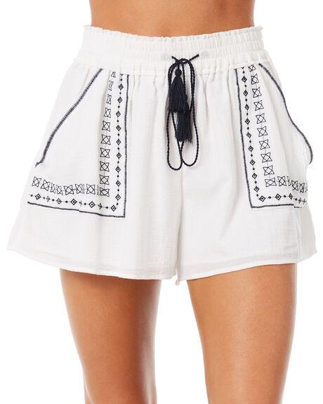 WHITE WOMENS CLOTHING ELWOOD SHORTS - W83621WHT