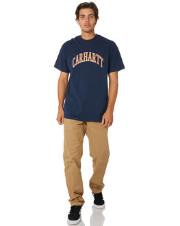 BLUE MENS CLOTHING CARHARTT TEES - I02627701