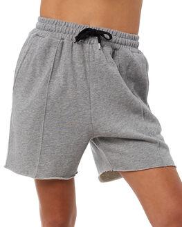 GREY WOMENS CLOTHING STUSSY SHORTS - ST181622GRY