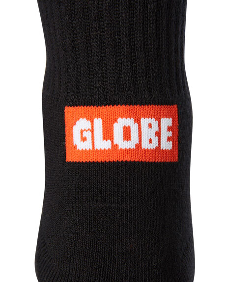 BLACK MENS CLOTHING GLOBE SOCKS + UNDERWEAR - GB71819010BLK