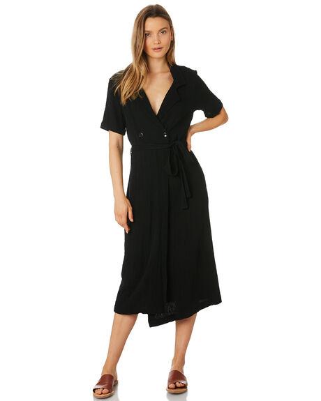 BLACK WOMENS CLOTHING RHYTHM DRESSES - APR19W-DR08-BLK