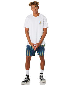WHITE MENS CLOTHING BARNEY COOLS TEES - 123-CC3WHT