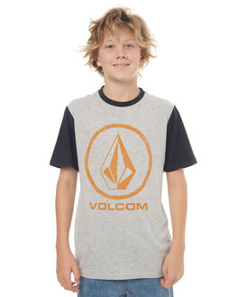 GREY KIDS BOYS VOLCOM TEES - C5031773GRY