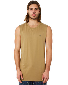 SAND MENS CLOTHING VOLCOM SINGLETS - A3731624SND