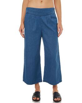 MEDIUM BLUE WOMENS CLOTHING ROXY PANTS - ERJDP03173BLC0