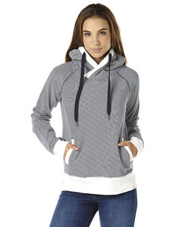 NAVY WHITE WOMENS CLOTHING RIP CURL JUMPERS - GFECX11605
