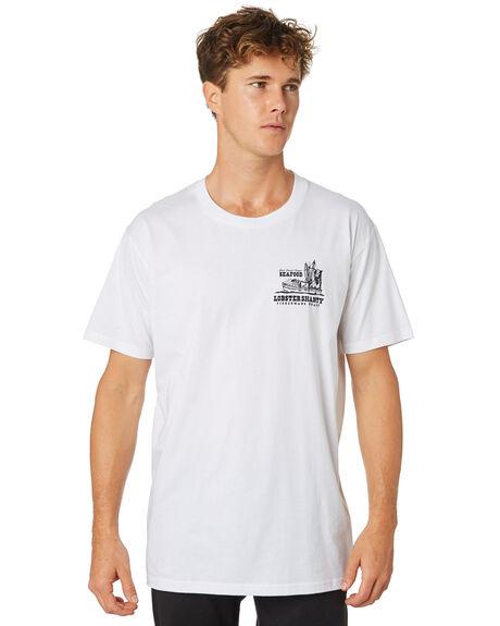 WHITE MENS CLOTHING THE LOBSTER SHANTY TEES - LBS-TRAWL-WHT
