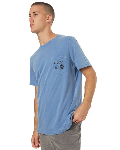 CLIFTON BLUE MENS CLOTHING RVCA TEES - R171049CBLU