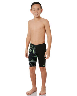 BLACK GREEN KIDS BOYS ZOGGS SWIMWEAR - 6040196BLKGR