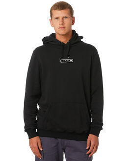 BLACK MENS CLOTHING RUSTY JUMPERS - FTM0859BLK