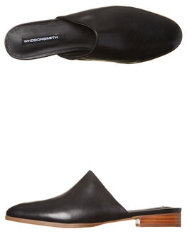 BLACK WOMENS FOOTWEAR WINDSOR SMITH FLATS - PILLARBLK