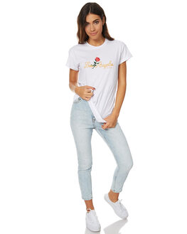 WHITE WOMENS CLOTHING STUSSY TEES - ST176000WHT