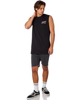 BLACK MENS CLOTHING SANTA CRUZ SINGLETS - SC-MTD8026BLK