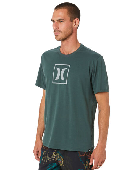VINTAGE GREEN MENS CLOTHING HURLEY TEES - CU1203345