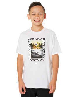 WHITE KIDS BOYS HURLEY TOPS - AR4107-100