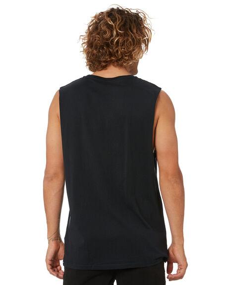 BLACK MENS CLOTHING VOLCOM SINGLETS - A3742073BLK