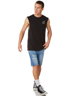 BLACK MENS CLOTHING SWELL SINGLETS - S5182275BLACK