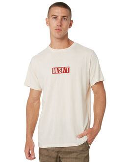 WARM WHITE MENS CLOTHING MISFIT TEES - MT095000WMWHT