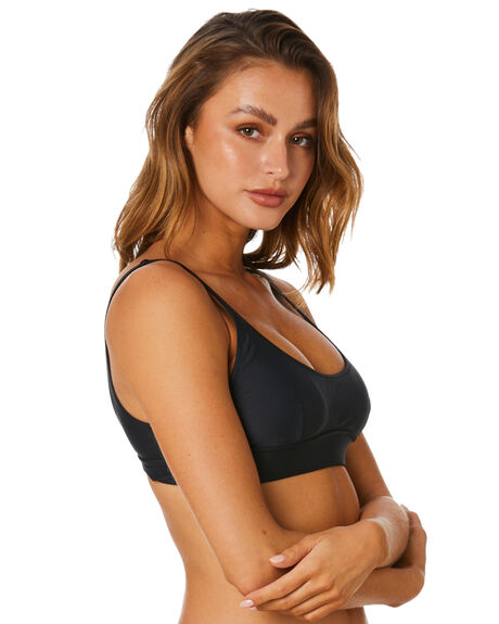 BLACK WOMENS SWIMWEAR TIGERLILY BIKINI TOPS - T515164BLK