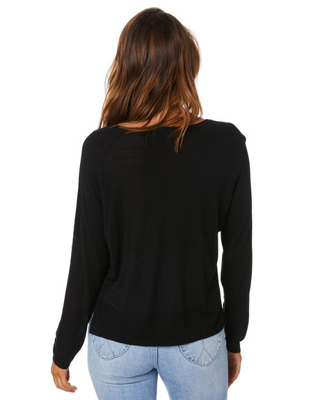 BLACK WOMENS CLOTHING SWELL KNITS + CARDIGANS - S8213146BLK