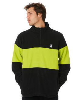BLACK MENS CLOTHING STUSSY JUMPERS - ST097200BLACK