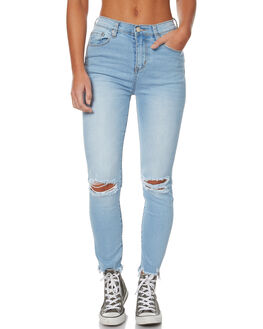 TRASHED BLUES WOMENS CLOTHING ZIGGY JEANS - ZW-1293TRAB