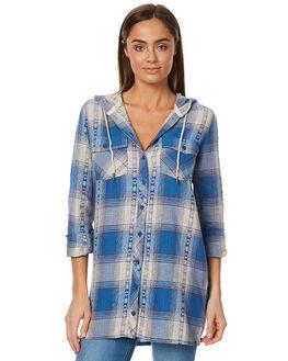 ESTATE BLUE WOMENS CLOTHING VOLCOM FASHION TOPS - B0511714EBL