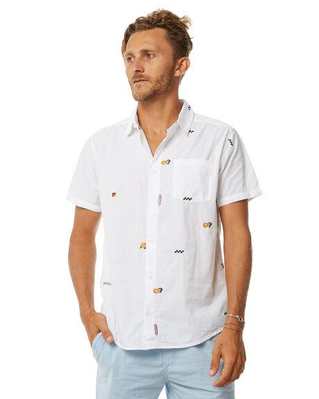 WHITE MENS CLOTHING RVCA SHIRTS - R383181WHT
