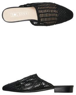 BLACK WOMENS FOOTWEAR SOL SANA FLATS - SS191S324BLK