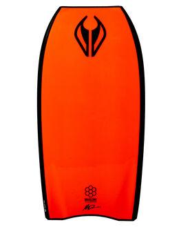 BLACK FLURO RED BOARDSPORTS SURF NMD BODYBOARDS BOARDS - N19THREE41BLBLKFR