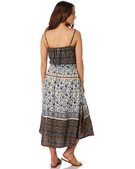 BLUE PATCHWORK WOMENS CLOTHING O'NEILL DRESSES - 5421606BPW