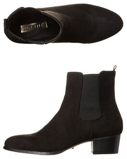 BLACK SUEDE WOMENS FOOTWEAR BILLINI BOOTS - B8031