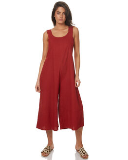 RED WOMENS CLOTHING ZULU AND ZEPHYR PLAYSUITS + OVERALLS - ZZ1643RED