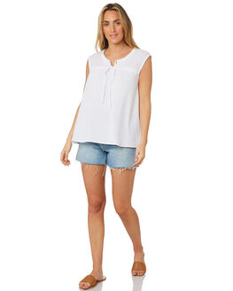 WHITE WOMENS CLOTHING SWELL FASHION TOPS - S8202009WHI