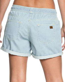 BLEACHED BLUE WOMENS CLOTHING ROXY SHORTS - ERJDS03178BEZW