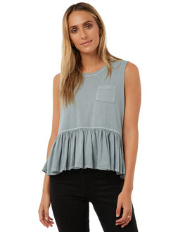 SEA GREEN WOMENS CLOTHING ALL ABOUT EVE SINGLETS - 6401037GRN