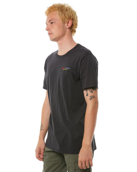 DIRTY BLACK MENS CLOTHING BANKS TEES - WTS0229DBL