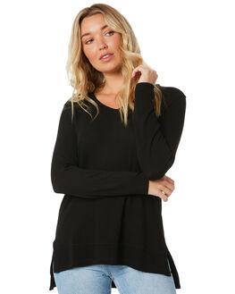 BLACK WOMENS CLOTHING BETTY BASICS TEES - BB445H20BLK