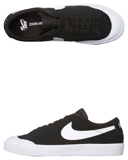 BLACK WHITE MENS FOOTWEAR NIKE SKATE SHOES - 864348-019
