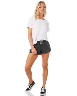 ACID BLACK WOMENS CLOTHING SANTA CRUZ SHORTS - SC-WBC8668ABLK