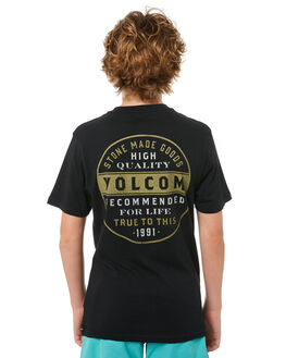 BLACK KIDS BOYS VOLCOM TEES - C5011874BLK