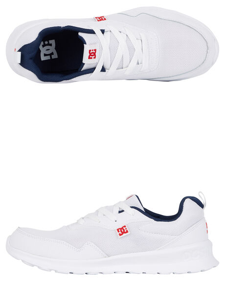 WHITE/NAVY MENS FOOTWEAR DC SHOES SNEAKERS - ADYS700140-WNY