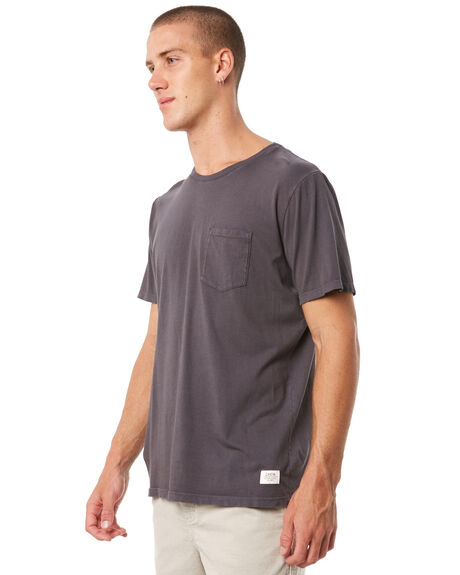BLACK WASH MENS CLOTHING KATIN TEES - KNBAS00BWSH