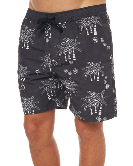 BLACK MENS CLOTHING SWELL BOARDSHORTS - S5171241BLK