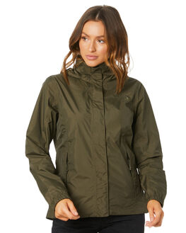NEW TAUPE GREEN WOMENS CLOTHING THE NORTH FACE JACKETS - NF0A2VCU21L