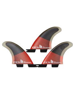 RED BLACK BOARDSPORTS SURF FCS FINS - FACC-PC04-GM-TS-RRDB